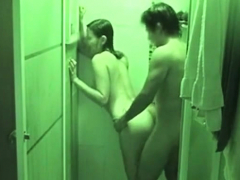 teens passion banging in the shower