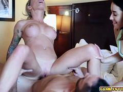 stepmom-and-stepsis-bends-their-asses-for-stepson