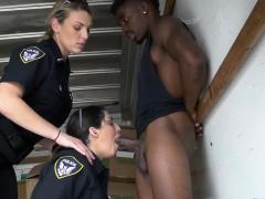 Milf Cops Make Burglar Stuff Their Mouth And Coochies