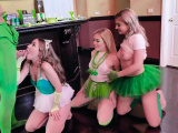 St Pattys Day party with horny teen bffs and lucky guy
