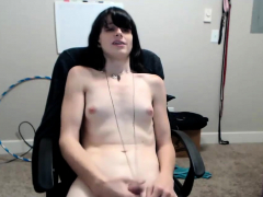 amateur-raven-haired-ts-camgirl-plays-with-her-cock