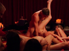 Swingers face the challenge to enter the Red Orgy Room