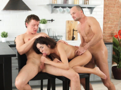 cute-brunette-katty-has-a-hot-threesome-in-the-kitchen