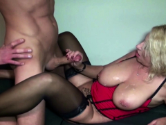 Big Tits German MILF Boss Seduce Candidate to Fuck on Work