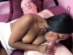 Ebony college girl Nikki Ford lifts her short skirt to get