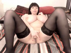 Big Busty BBW In Lace Stockings Fucked
