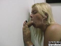 MILF Smoking Cock Sucking Glory Hole Blonde