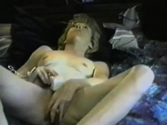 Blonde pleases herself with sex toys