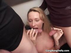 Good Looking Blonde Chick Sucks Many Part3