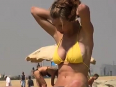 great blonde beach voyeur facial