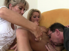 old-mom-and-dad-tricks-blonde-girl-into-threesome