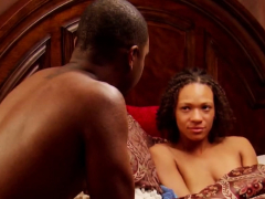 black swinger couple starts with oral pleasure