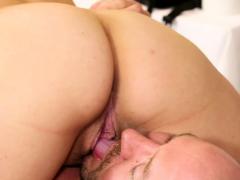 Naughty masseuse tugs on mature cock