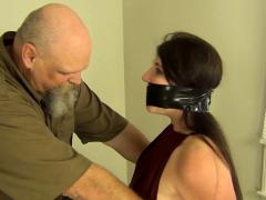 BDSM fetish bondage slut drools on her dominators dick