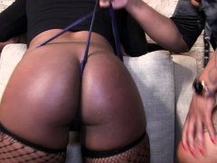 Diamond gives Twiggy a spanking and wedgie punishment