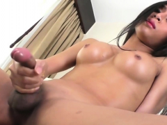 Ladyboy Dew Enjoys Fucking Her Ass With A Toy
