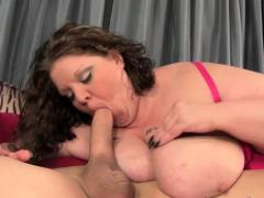 Fat bbw gets tits jizzed