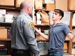 Shoplifting twink pounded