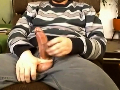 Wanking fat cock and huge cumshot