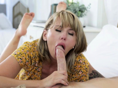 Busty MILF surprise sex with new neighbor