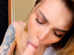 Hot Sexy and Busty Shemale Playing Dildo on Cam