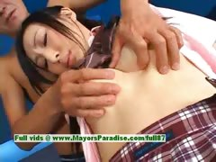 Stunning Japanese Model Gets Nipples Licked And Posing