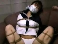 japanese girl bimbo in uniform sucks cock