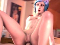 Girls from 3D Game Life Is Strange Enjoying Big Fat Dick