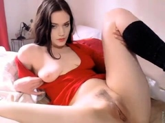 Young Amateur Teen In Solo Masturbation Playing With Herself