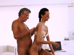 Old man thai and young girl licks granny Finally she's