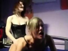 Amateurs lesbian strapon action homemade