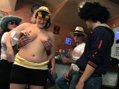 monster tits party in the bbw bar