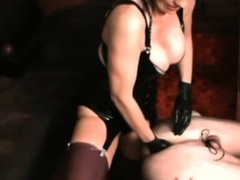 Bitch goddess smothers slave and tortures with electricity