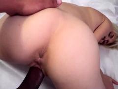 Slim blonde fuck and cum play