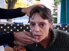 amateur-brunette-milf-gives-a-special-blowjob-on-the-porch