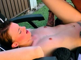 young german housewife seduced outdoor