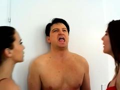 Mira And Lyla Spit On Slave Bobby