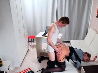 TUTOR4K. Mature teacher seduced by disciple who simulated
