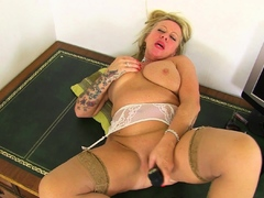 Office granny Camilla from the UK shows her naughty side