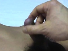 smooth asian gets milked