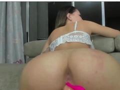 bouncing my latina asss on bad dragon dildo cock