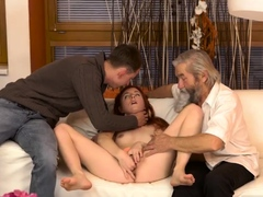 Blonde daddy Unexpected practice with an older gentleman
