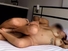 Latina Redhead Fucking Sister's Husband In the Kitchen