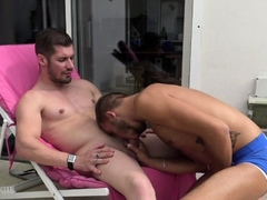 French twink used bareback by straight curious