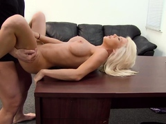 Deep Throat Blonde Madeline Ass Fucked For Cash