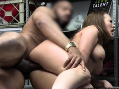 Busty milf is mouthful of big black cock