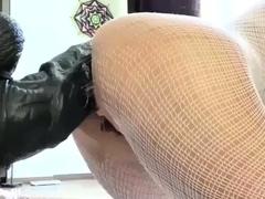 Slamming Giant Mutant Dildo Deep in Her Ass