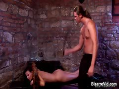 Hot Horny Nasty Brunette Babe Gets Tied Part3