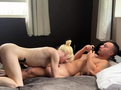 Small tits shemale bonked by 2 horny guys
