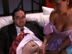Tiny cock dommes wank small dick groom